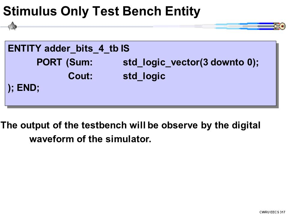 Stimulus Only Test Bench Entity
