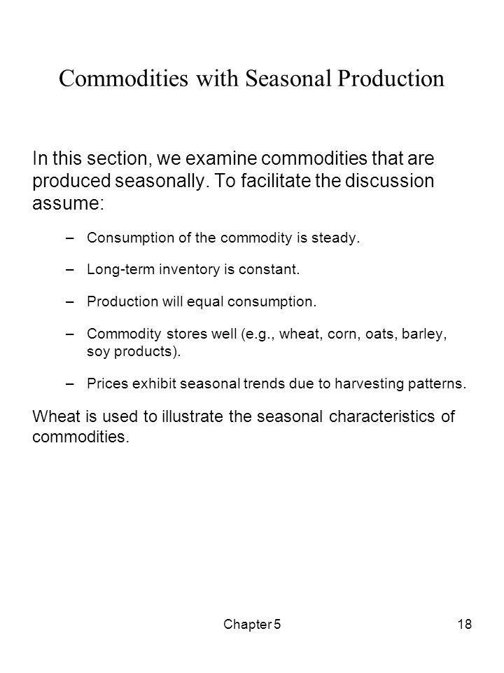Commodities with Seasonal Production
