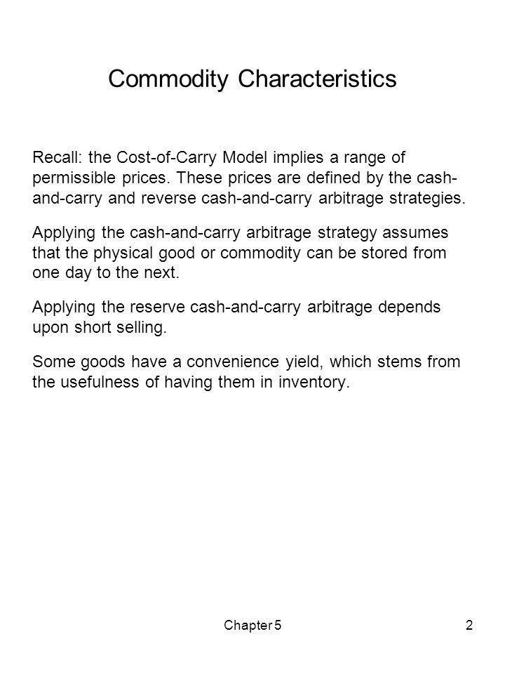 Commodity Characteristics