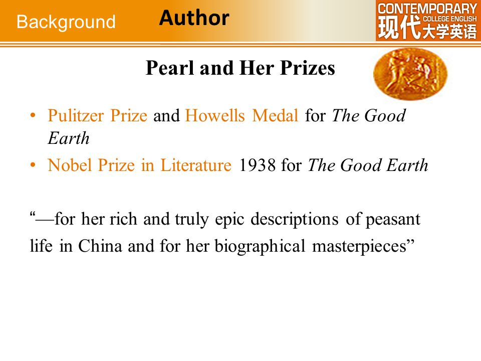 Author Pearl and Her Prizes Background