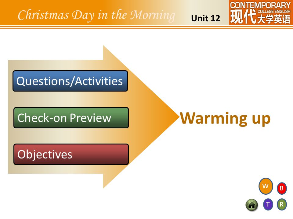 Warming up Christmas Day in the Morning Questions/Activities