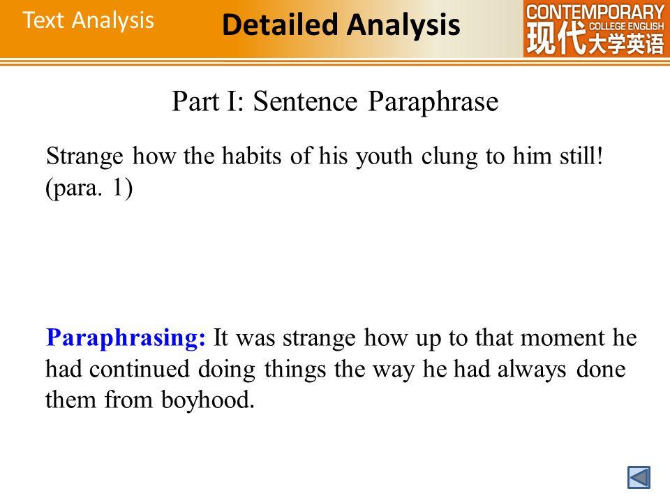 Part I: Sentence Paraphrase