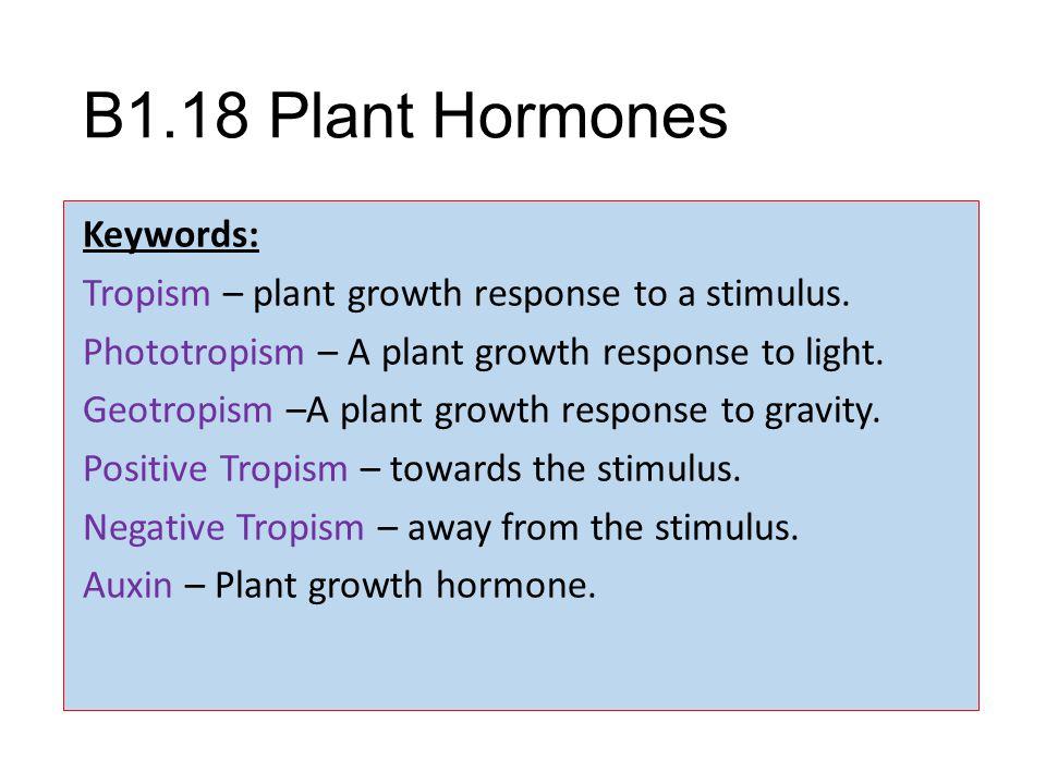 B1.18 Plant Hormones