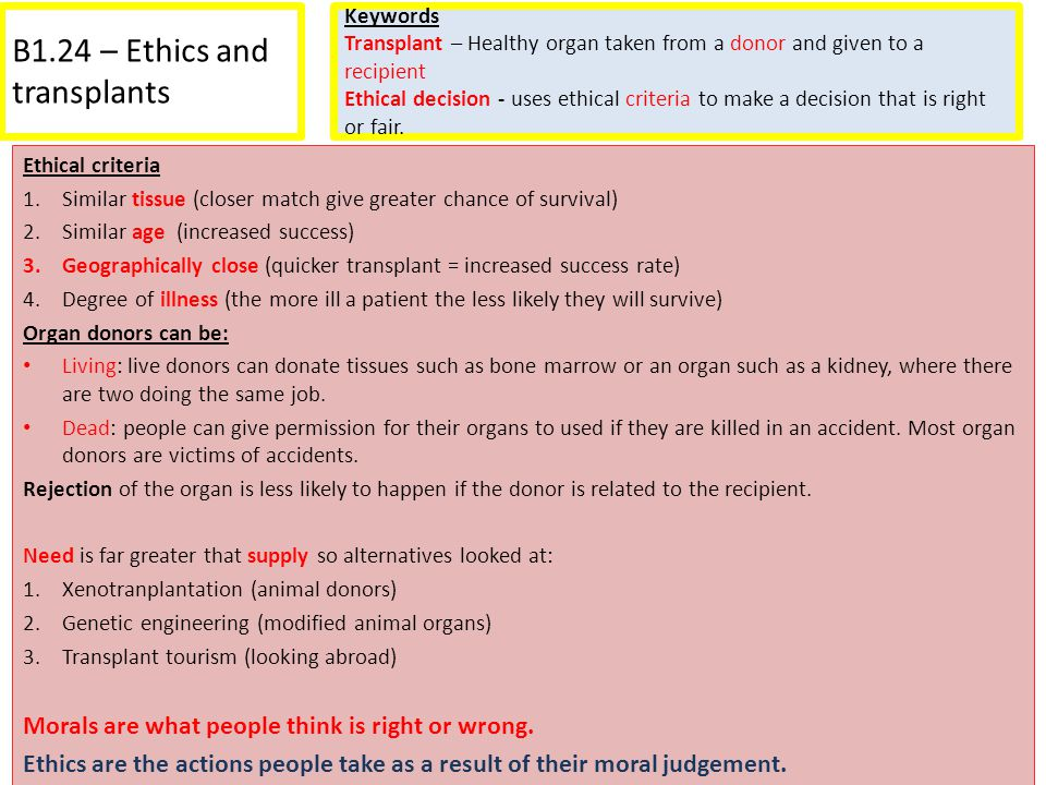 B1.24 – Ethics and transplants
