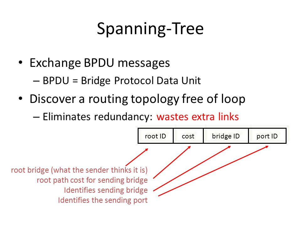 Spanning-Tree Exchange BPDU messages