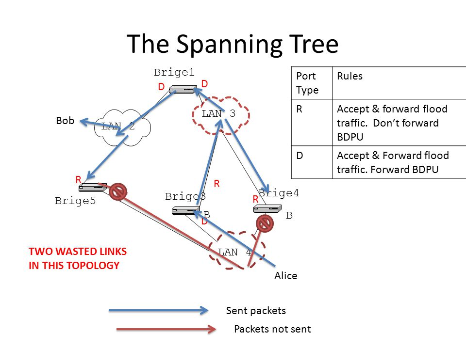 The Spanning Tree Brige1 Port Type Rules R