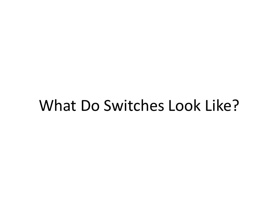 What Do Switches Look Like
