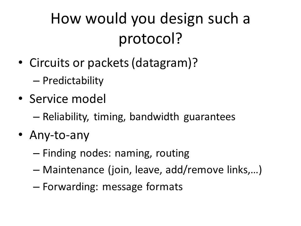 How would you design such a protocol