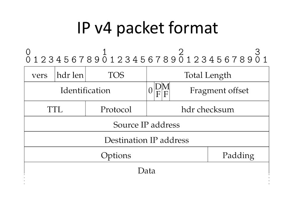 IP v4 packet format
