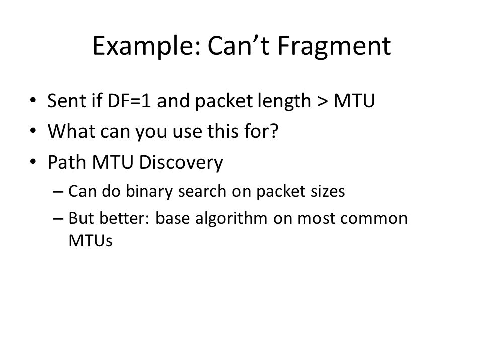 Example: Can't Fragment