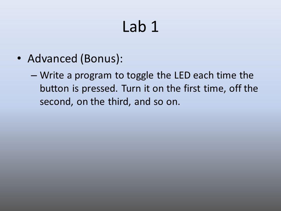 Lab 1 Advanced (Bonus):