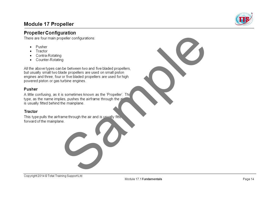 Sample Module 17 Propeller Propeller Configuration