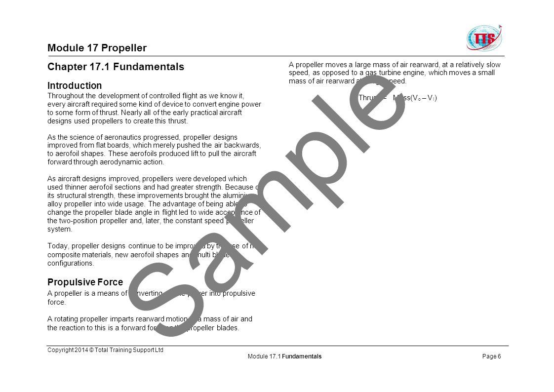 Sample Module 17 Propeller Chapter 17.1 Fundamentals