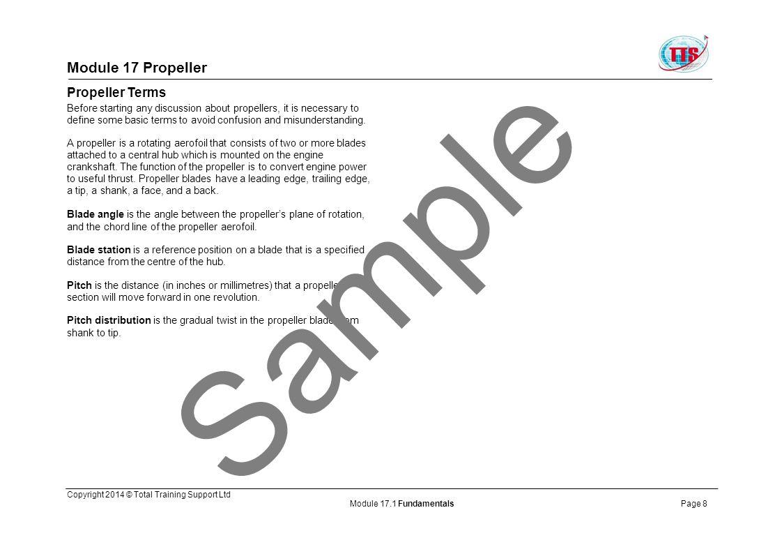 Sample Module 17 Propeller Propeller Terms