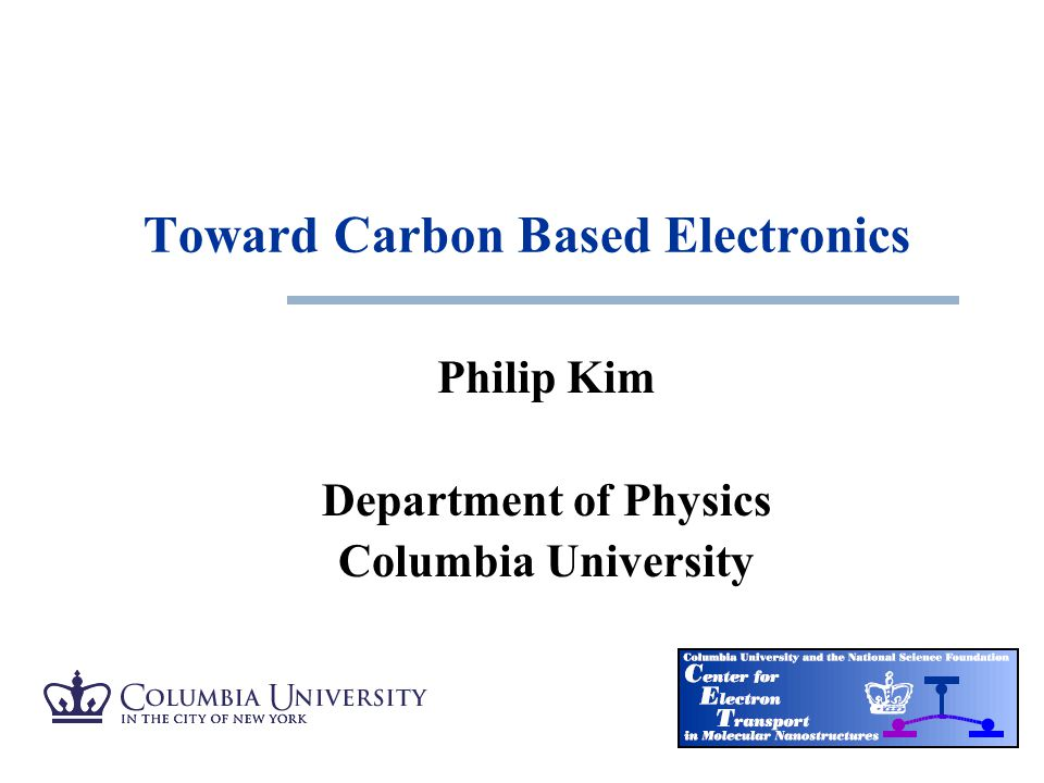 Toward Carbon Based Electronics
