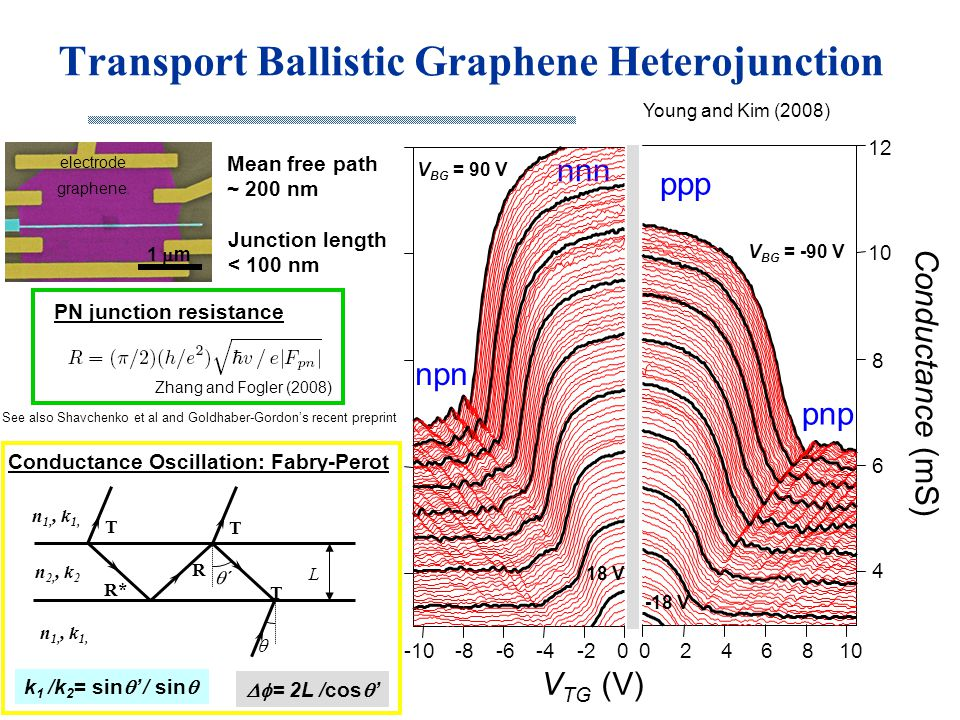 Transport Ballistic Graphene Heterojunction