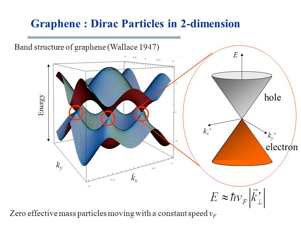 Graphene : Dirac Particles in 2-dimension