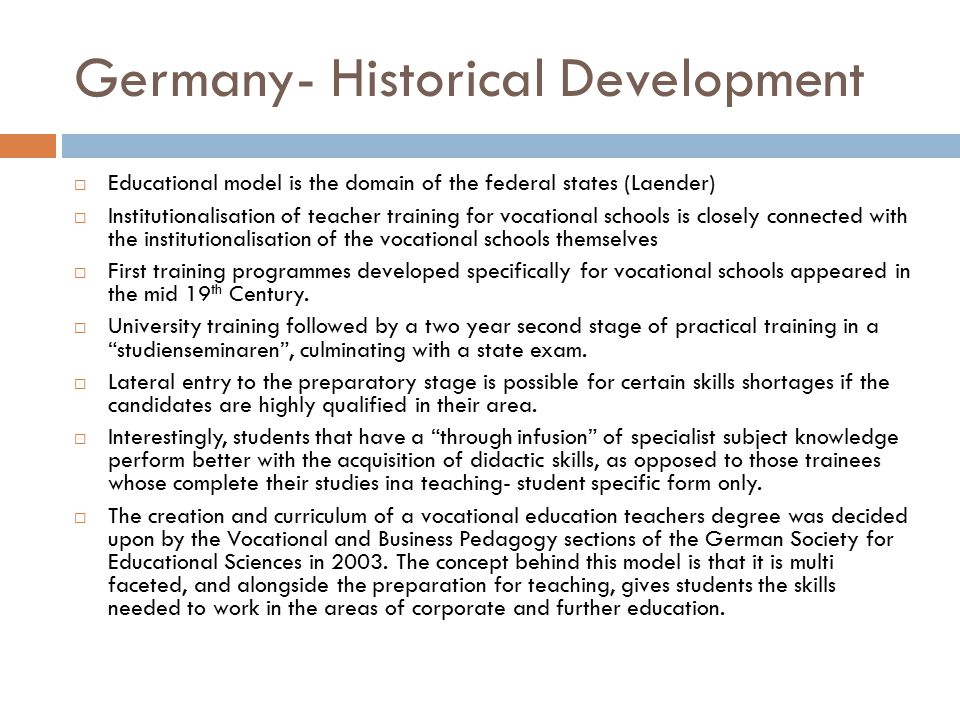 Germany- Historical Development