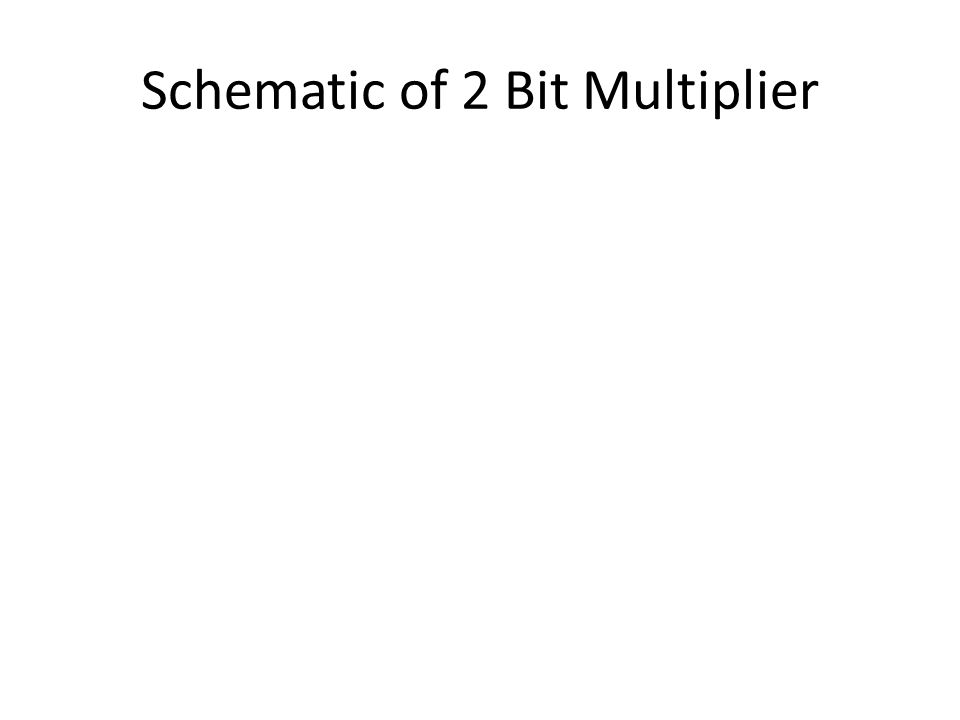 Schematic of 2 Bit Multiplier