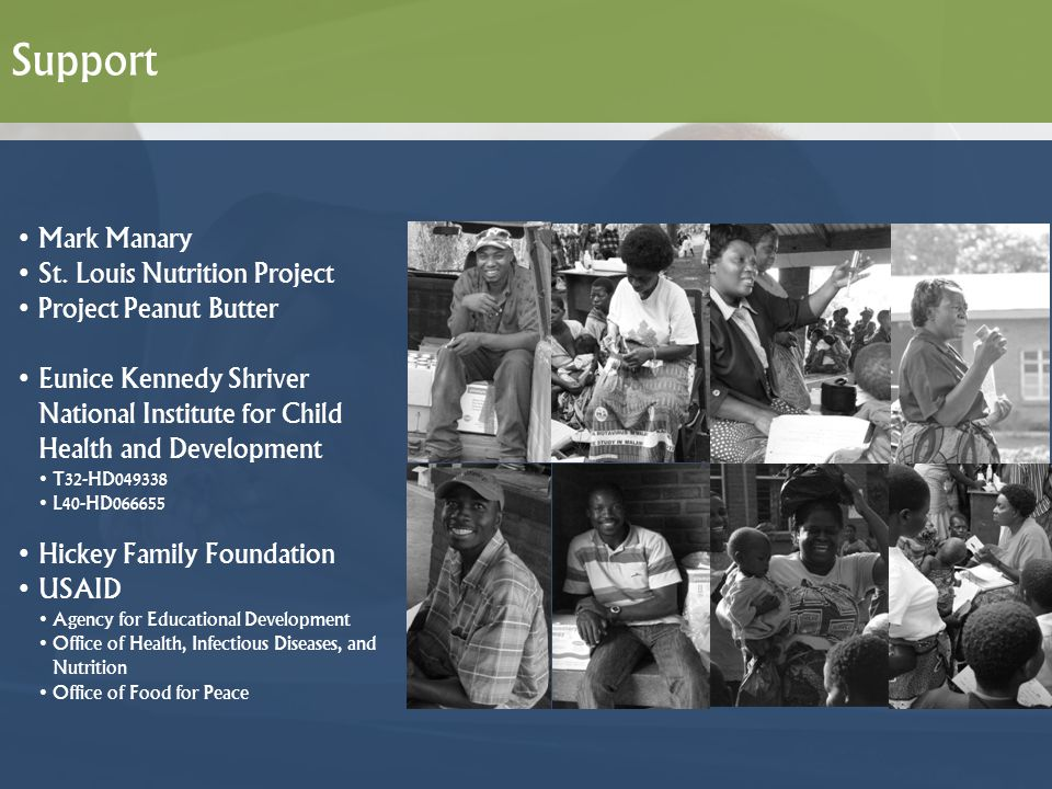 Support Mark Manary St. Louis Nutrition Project Project Peanut Butter