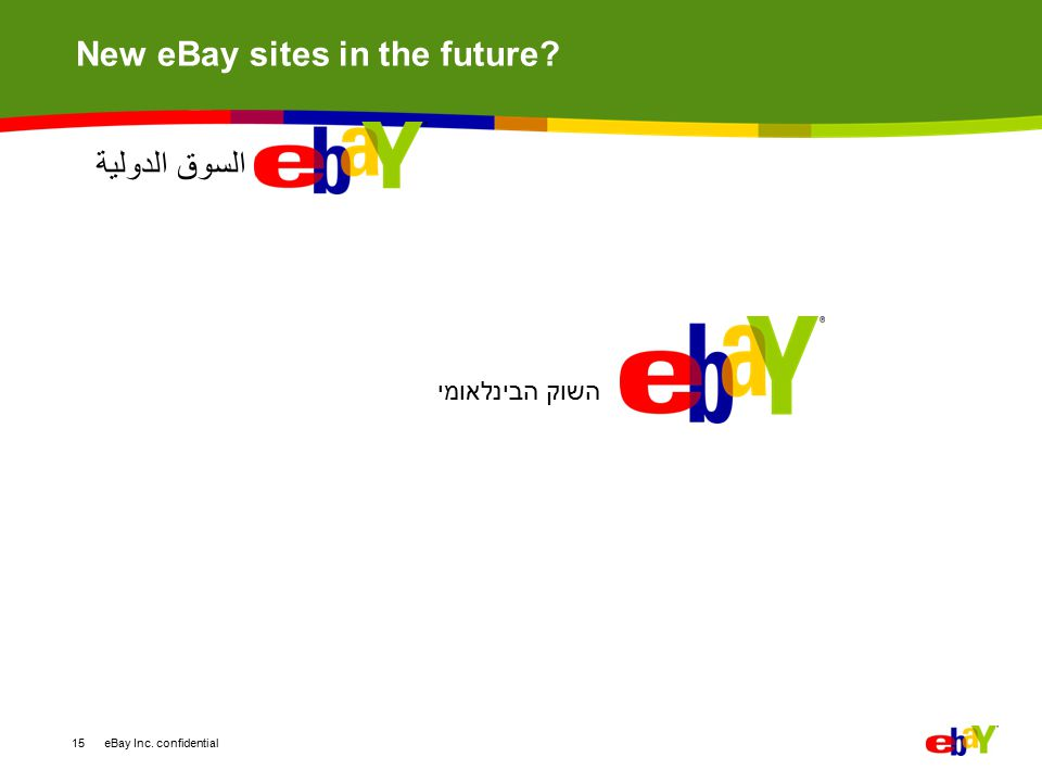 New eBay sites in the future