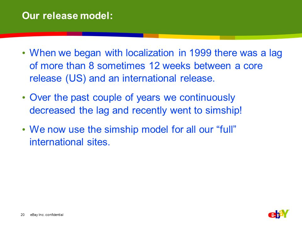 Our release model: