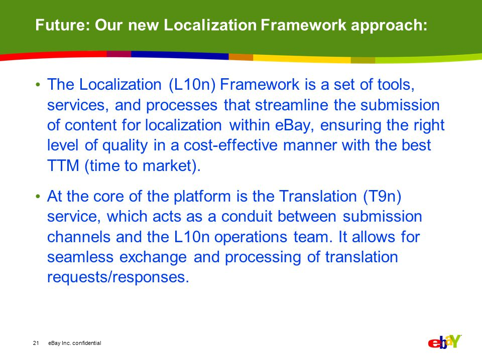 Future: Our new Localization Framework approach: