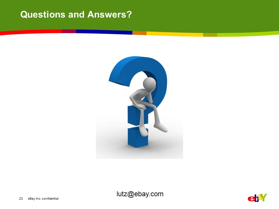 Questions and Answers lutz@ebay.com