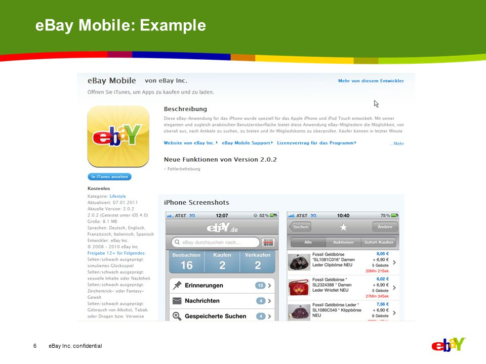 eBay Mobile: Example