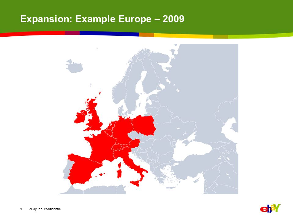 Expansion: Example Europe – 2009