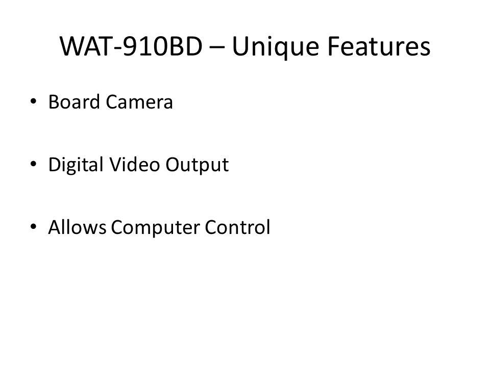 WAT-910BD – Unique Features