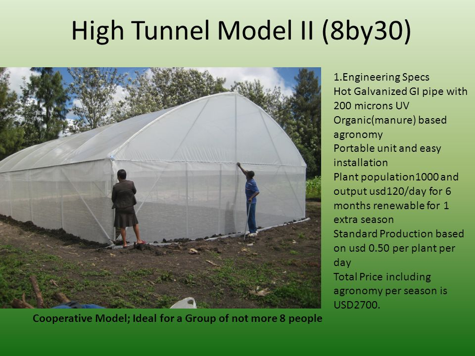 High Tunnel Model II (8by30)