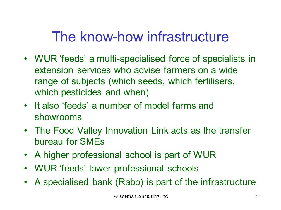 The know-how infrastructure