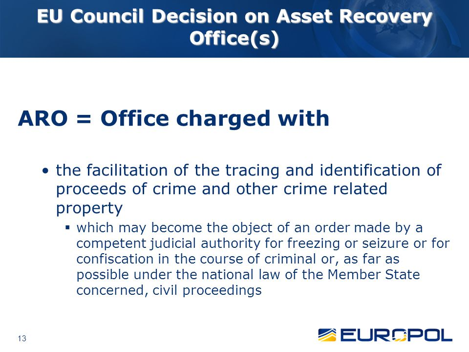 EU Council Decision on Asset Recovery Office(s)
