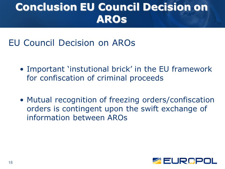 Conclusion EU Council Decision on AROs