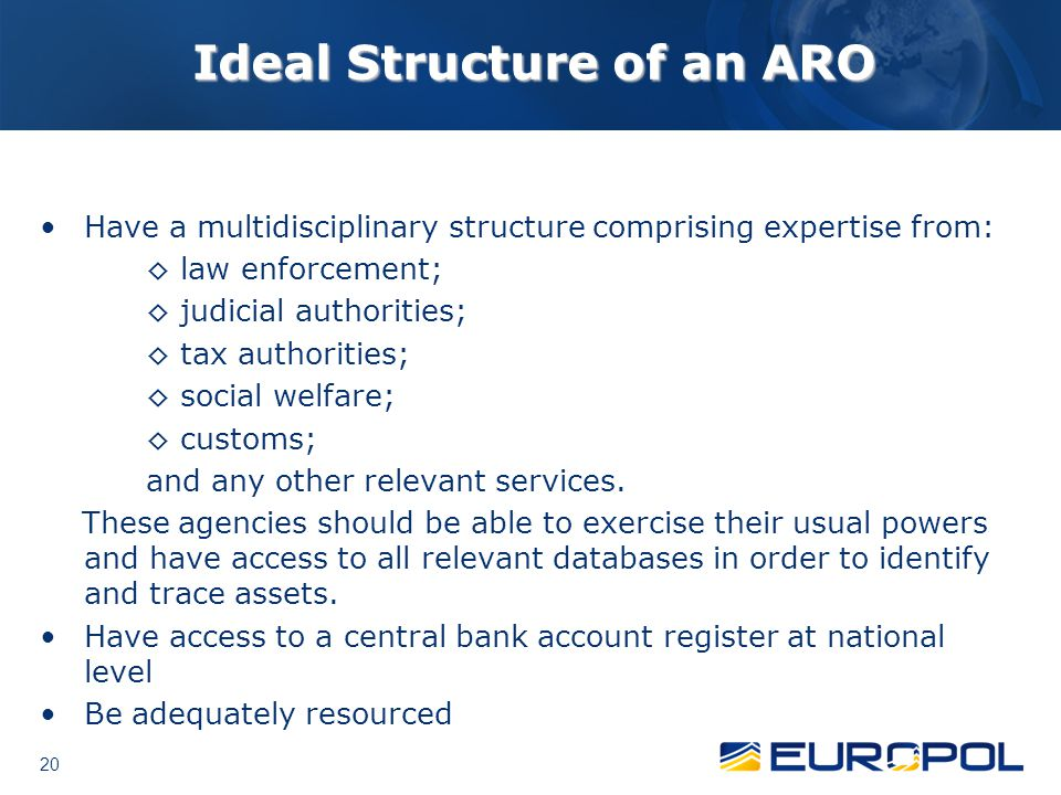 Ideal Structure of an ARO