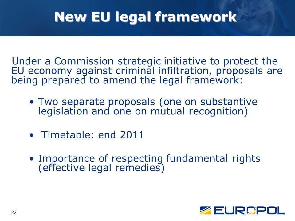 New EU legal framework
