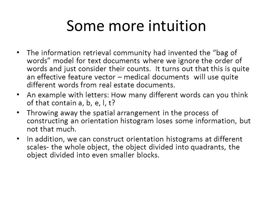 Some more intuition