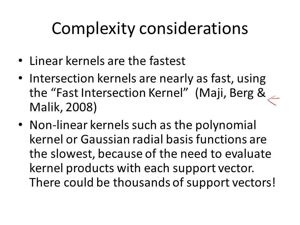 Complexity considerations