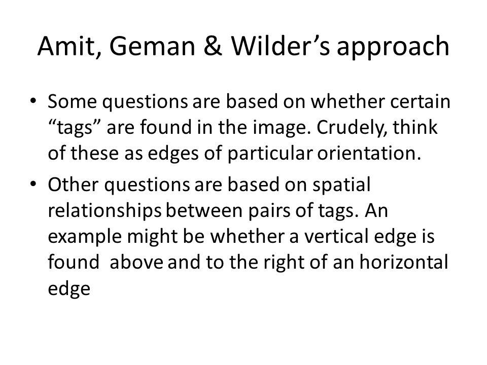 Amit, Geman & Wilder's approach