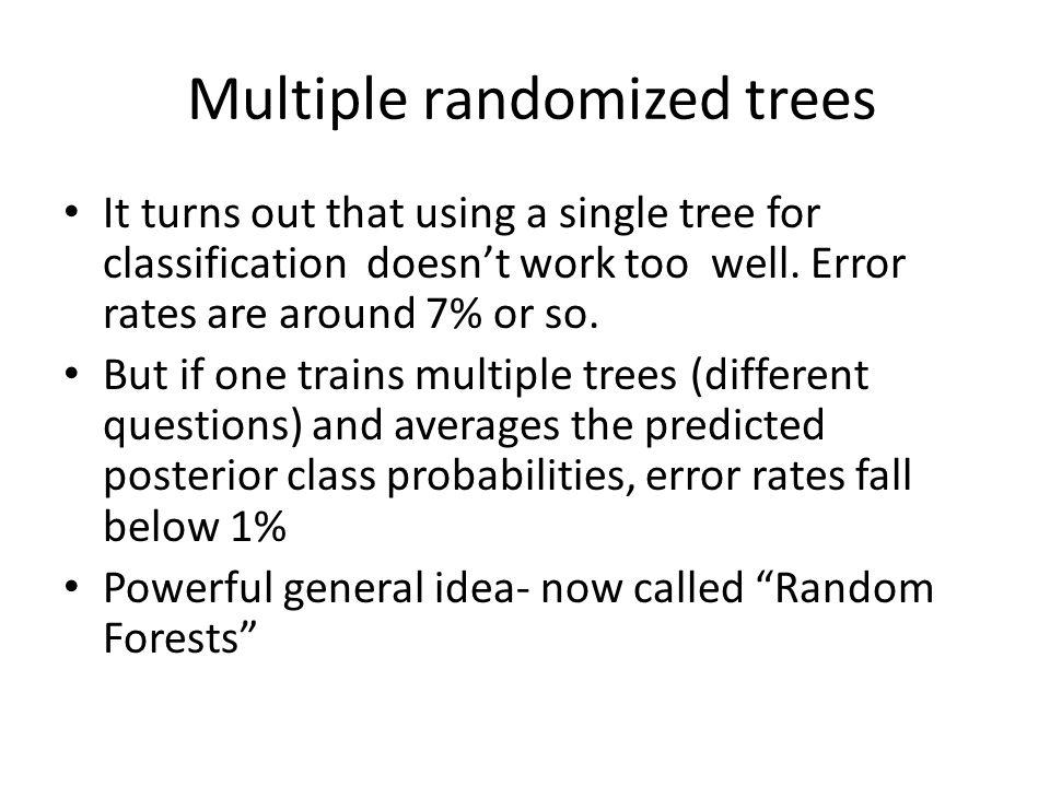 Multiple randomized trees