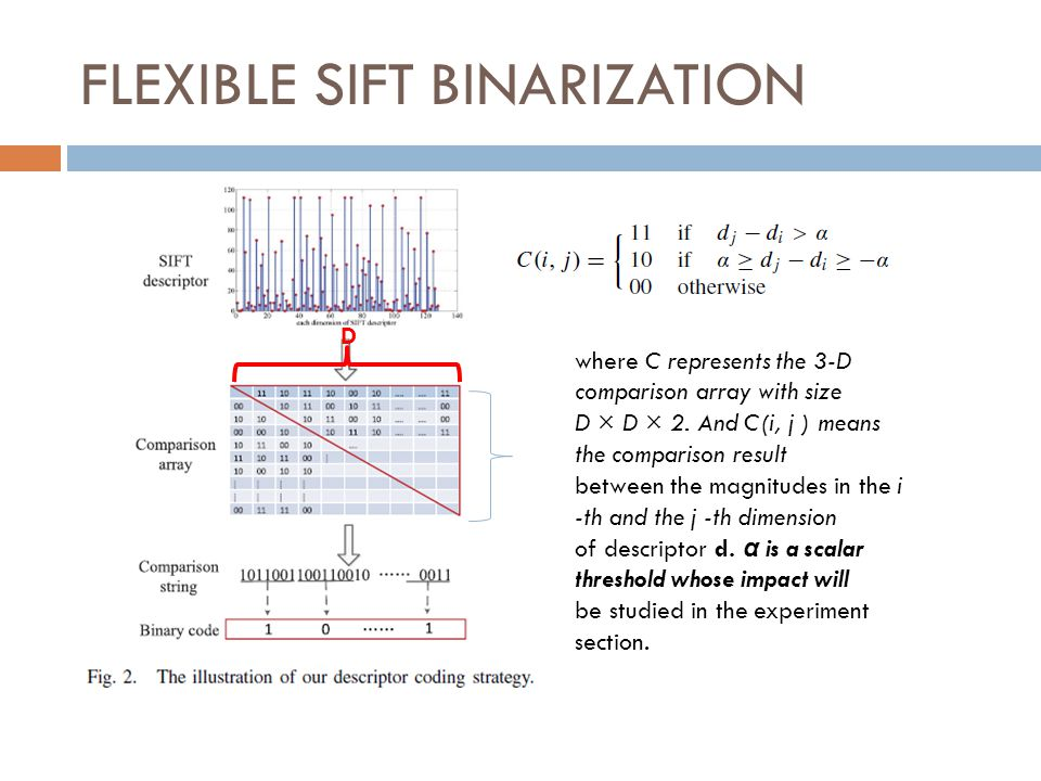 FLEXIBLE SIFT BINARIZATION
