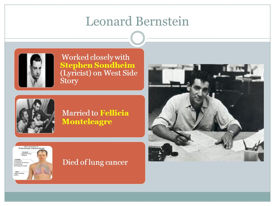 Leonard Bernstein Married to Fellicia Monteleagre