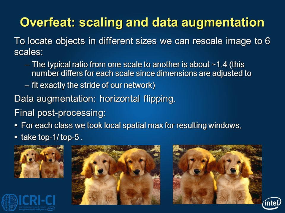 Overfeat: scaling and data augmentation