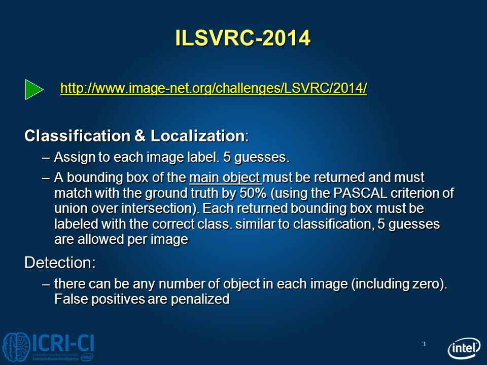 ILSVRC-2014 Classification & Localization: Detection: