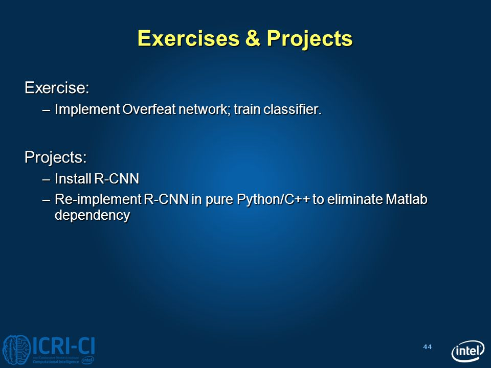Exercises & Projects Exercise: Projects: