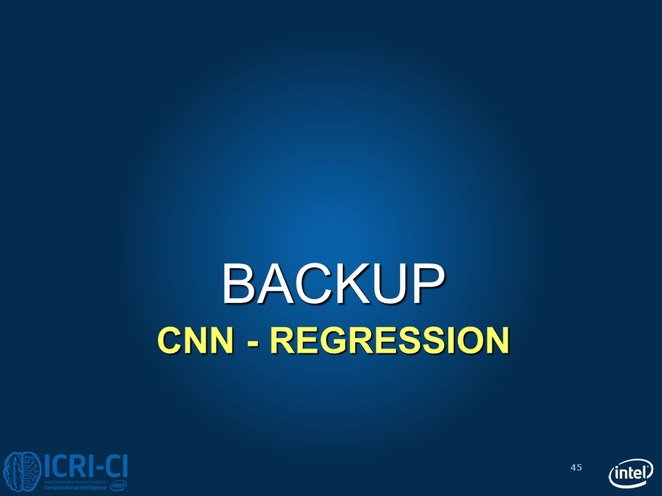 BACKUP CNN - Regression