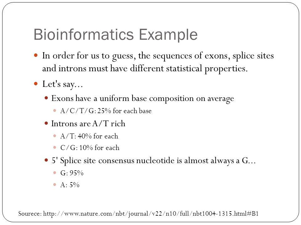 Bioinformatics Example
