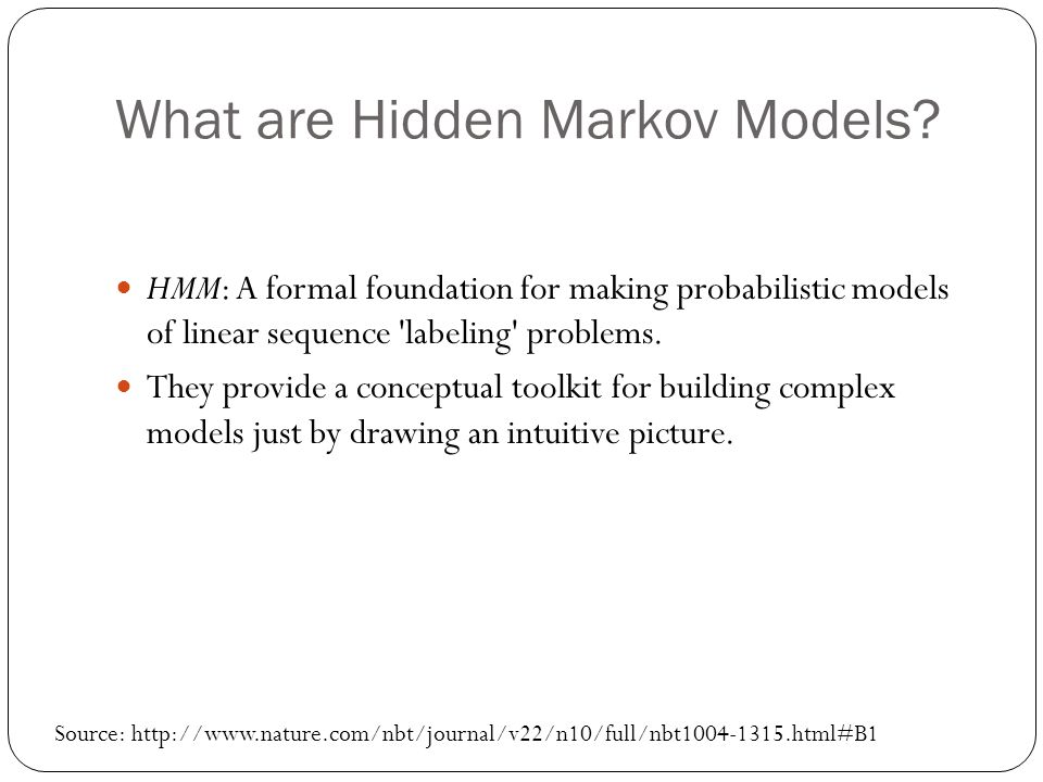 What are Hidden Markov Models