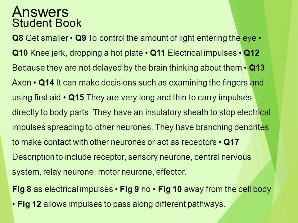 Answers Student Book.